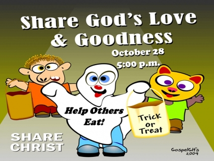 Trick or Treat Help Others Eat